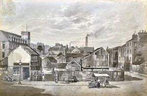Meadowside, Dundee, shortly before the land was acquired by The Albert Institute Company.