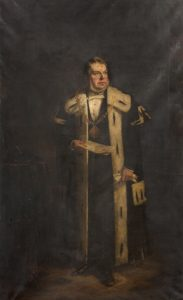 Portrait of James Yeaman M.P. by Artist Hugh Collins.