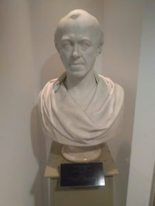 Bust of John Boyd Baxter, Baxter Suite, Tower Building, University of Dundee.