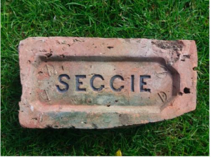 Seggie brick found at Guardbridge Station - image accessed via www.scottishbrickhistory.co.uk