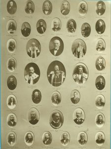 Office bearers, Dundee Grocers' Benevolent Society. Courtesy of Leisure & Culture Dundee.