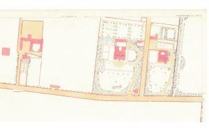 Coventry Bank on 1857 OS plan. Courtesy of National Library of Scotland.