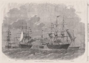 The two ships on the right of this illustration are owned by James Yeaman, The Polynia and the Camperdown.