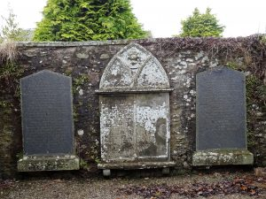 Moon Gravestones in Newtyle churchyard