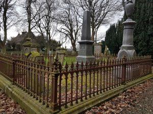 Memorial stone of Robert McGavin and that of his sister Elizabeth in Murroes kirkyard