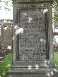 McGavin memorial stone in St Andrew's churchyard