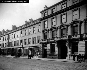 Also known as 'City Warehouse' this photo is from the Photopolis collection.(Image: Reform Street, Dundee - Ref: WC0553 by Wilson, Alexander)