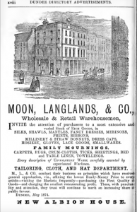 An advertisement for Moon, Langlands & Co.