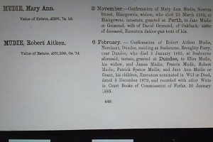 Calendar of Confirmations, 1885.