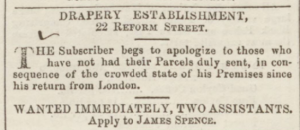 Dundee, Perth, and Cupar Advertiser - Friday 14 April 1848 https://www.britishnewspaperarchive.co.uk/viewer/bl/0000296/18480414/026/0003