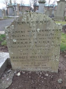 Gravestone in Western Cemetery