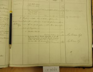 Shipping register - Khankai (right page lower)