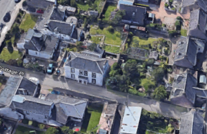 Peter Airth Feathers lived here before he moved to Somerville House. (Image- Cottage Place, Broughty Ferry, Google Earth,https://www.google.co.uk/maps/@56.4651421,-2.8667185,125a,35y,270h,45t/data=!3m1!1e3)