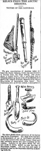 Drawings appeared in the local paper of the objects found in Canada, including the telescope by Peter Airth Feathers. (Image: Dundee Courier - Monday 12 November 1894, Page 4, British Library, BNA, https://www.britishnewspaperarchive.co.uk/viewer/bl/0000269/18941112/027/0004)