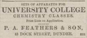 The firm made a variety of goods. (Image- Dundee Advertiser - Monday 15 October 1883, Page 8, B.N.A.)