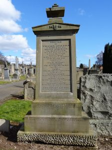 Gravestone erected by William Gellatly