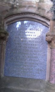 William Nicoll Lime Merchant and Shipowner headstone. Family of Elizabeth Henderson Nicoll wife of John Machan Shipmaster/Shipowner. Eastern Cemetery, Arbroath Road Dundee. Photo credit Louise H R Meikle