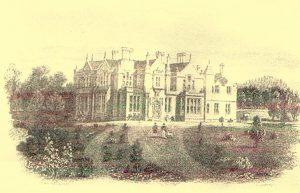 Laws Mansion - Image accessed via 'Forfarshire Illustrated' - Gershom Cumming, 1843