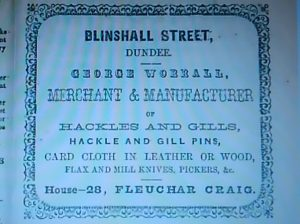Advert, Dundee Directory, 1861-62. Courtesy of Leisure & Culture Dundee.