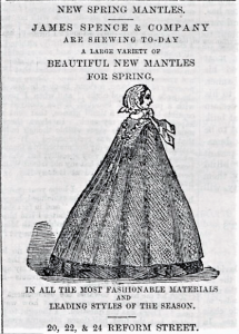 Adverts for James Spence and Co 1860. (1860, May 5). Dundee People's Journal, p. 1. Retrieved March 4, 2018, from https://www.britishnewspaperarchive.co.uk/viewer/BL/0000696/18600505/012/0001?browse=False.