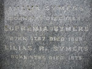 Text on Memorial Stone for the Symers sisters