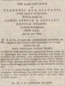 The outlay on stock was very high each season and was regularly boasted about. (Image: Dundee People's Journal - Saturday 01 September 1860, P 1. B.N.A.)