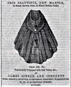 Tempting and regular adverts were used to bring in custom. (Image: Dundee People's Journal - Saturday 16 October 1858, Page 1, B.N.A.)