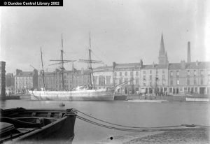 (Image; Photopolis, Arthur in Dundee Harbour, Ref WC0771, 2002,  Photopolis, Dundee City Archives, Central Library, Wellgate, Dundee)