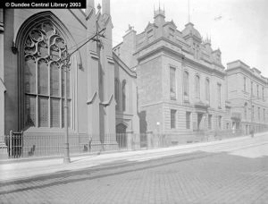 Ward Chapel and the Watt Institution, Constitution Road, Dundee. Photograph of the chapel where George Armitstead was married. Reproduced from the Photopolis website by kind permission of Leisure & Culture Dundee.