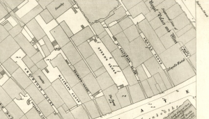 Argyll Close was behind reform Street, in Dundee's first Overgate. (Dundee 1858 - LIV.9.4, OS large scale Scottish town plans, 1847-1895, http://maps.nls.uk/view/74415351)