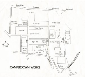 Camperdown Works plan, c.1982 courtesy of Leisure & Culture Dundee
