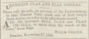 (Image; Dundee Courier, Tuesday 18 November 1845, Page 4, British Library Board via B.N.A., https://www.britishnewspaperarchive.co.uk/viewer/BL/0000160/18451118/036/0004?browse)