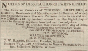 Dundee Courier, 28 June 1872. ©THE BRITISH LIBRARY BOARD. ALL RIGHTS RESERVED
