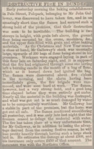 Fire at Polepark - Dundee Courier, 15-12-1873 - ©THE BRITISH LIBRARY BOARD. ALL RIGHTS RESERVED. Image accessed via ©2019Findmypast