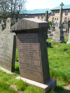Gravestone in Western Cemetery, Perth Road, Dundee