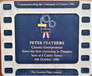 This sign commemorates P.A. Feathers's son Peter, but is outside their Castle Street shop. (Image: Gauldie, Becca, 2018)