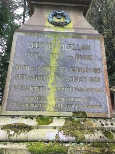 Dedication to 'George Gilfillan, Critic, Poet and Divine' on Gilfillan memorial