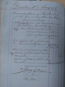 Profit & Loss, 1867. Image courtesy of Don & Low and University of Dundee Archive Services.