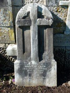 Gravestone of James McEwen - Western Cemetery
