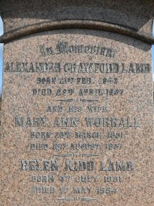 Alexander Crawford Lamb, Western Cemetery, Dundee