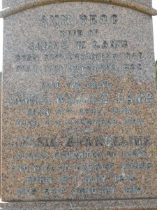 James Wallace Lamb, Western Cemetery, Dundee.