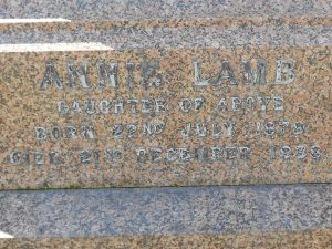 James Wallace Lamb's daughter, Western Cemetery, Dundee.