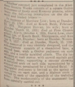 Aberdeen Press & Journal. 15 August 1900. p.9. Image © THE BRITISH LIBRARY BOARD. ALL RIGHTS RESERVED. Image accessed via ©2019 Findmypast website.