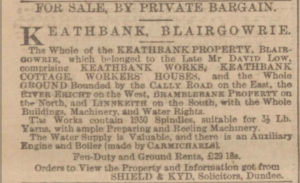 Dundee Courier. 20 May 1898. p.10. Image © THE BRITISH LIBRARY BOARD. ALL RIGHTS RESERVED. Image accessed via ©2019 Findmypast website.