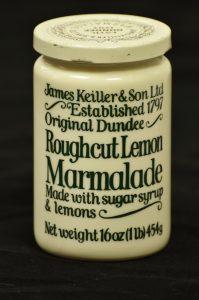 Modern Keiller's marmalade jar.