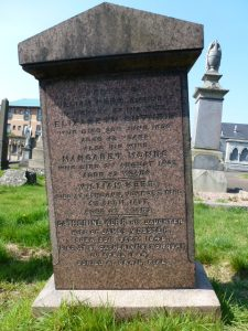 Gravestone in the Western Cemetery, Perth Road, Dundee