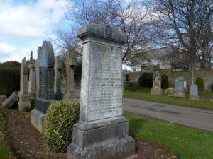 Memorial stone in Barnhill Cemetery