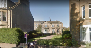 From Magdalen Yard Road, Seafield Lodge looks quite unassuming. (Image- Google Earth)