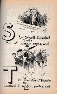 Cartoon from the Wasp lampooning Sir Thomas, Christmas 1900.