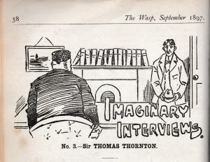 Spoof interview from the Wasp, September 1897.